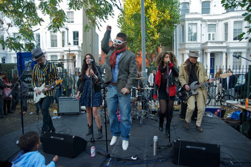 Rotten Hill Gang performing in Powis Square